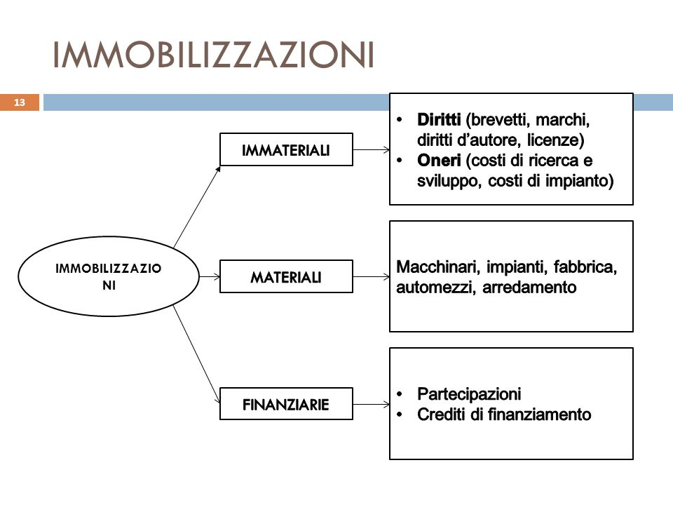 IMMOBILIZZAZIONI Diritti (brevetti, marchi, diritti d'autore, licenze)