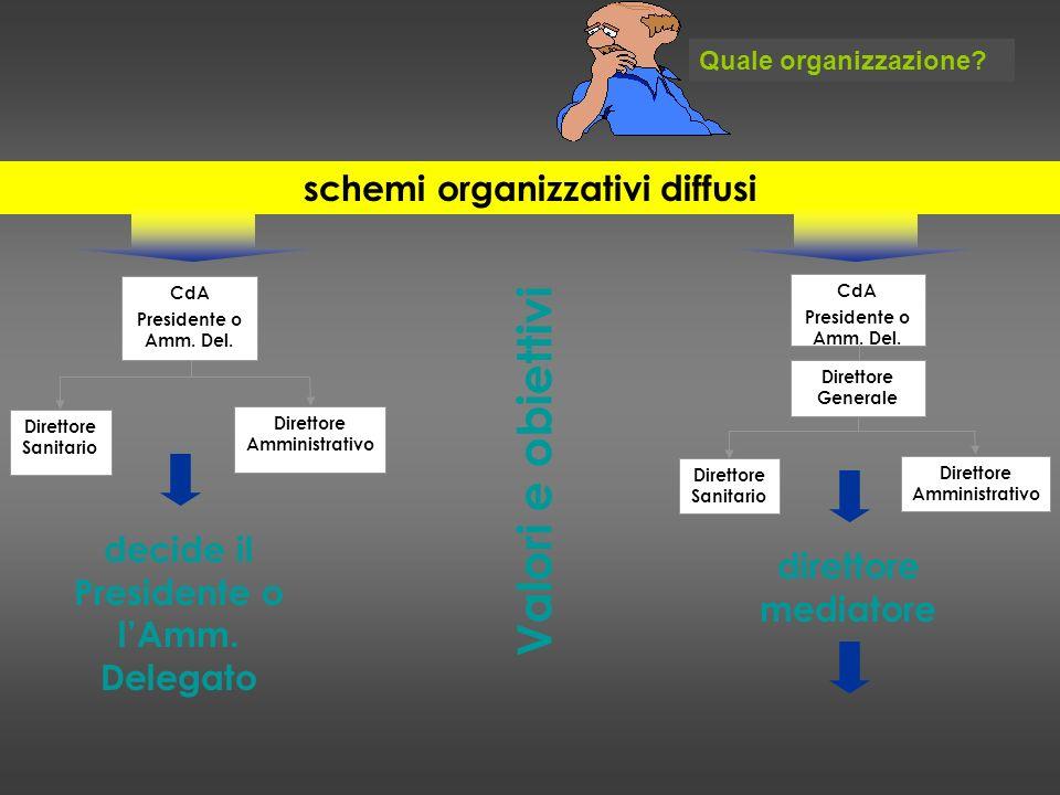 schemi organizzativi diffusi decide il Presidente o l'Amm. Delegato