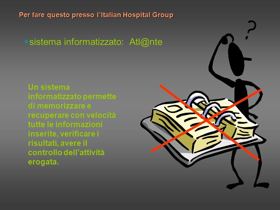 sistema informatizzato: Atl@nte