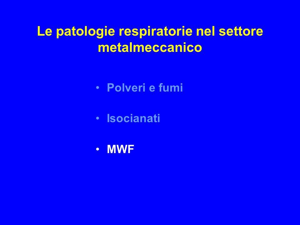 Le patologie respiratorie nel settore metalmeccanico