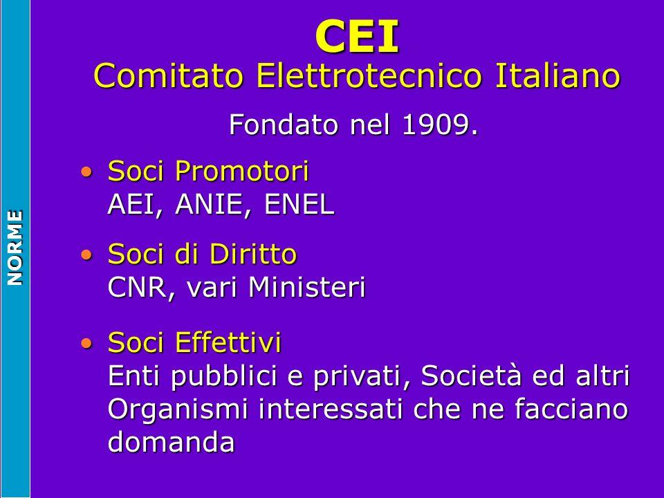 CEI Comitato Elettrotecnico Italiano