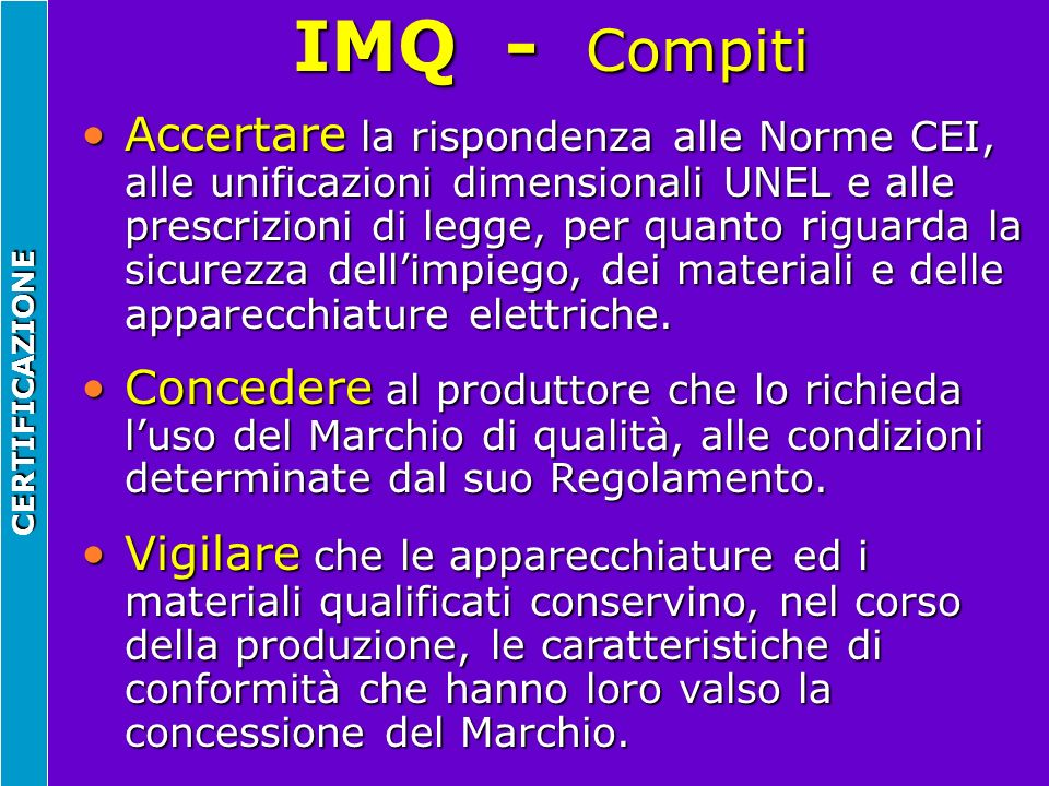 IMQ - Compiti