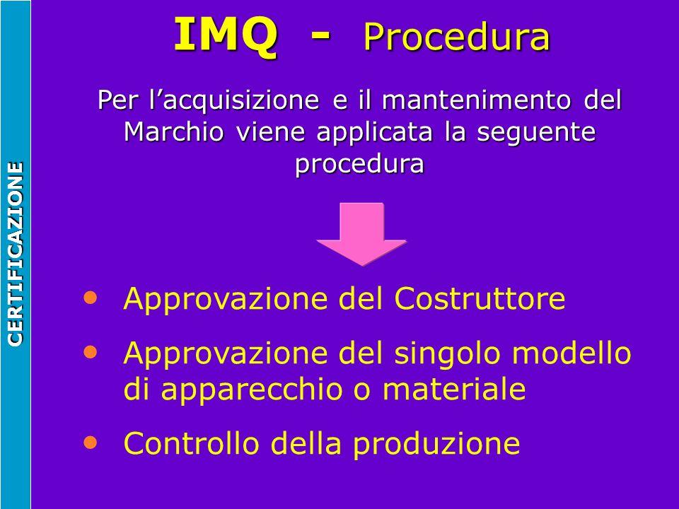 IMQ - Procedura Approvazione del Costruttore