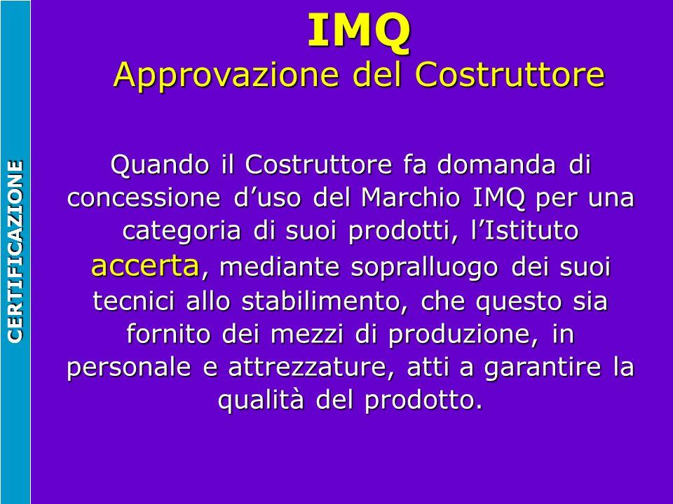 IMQ Approvazione del Costruttore