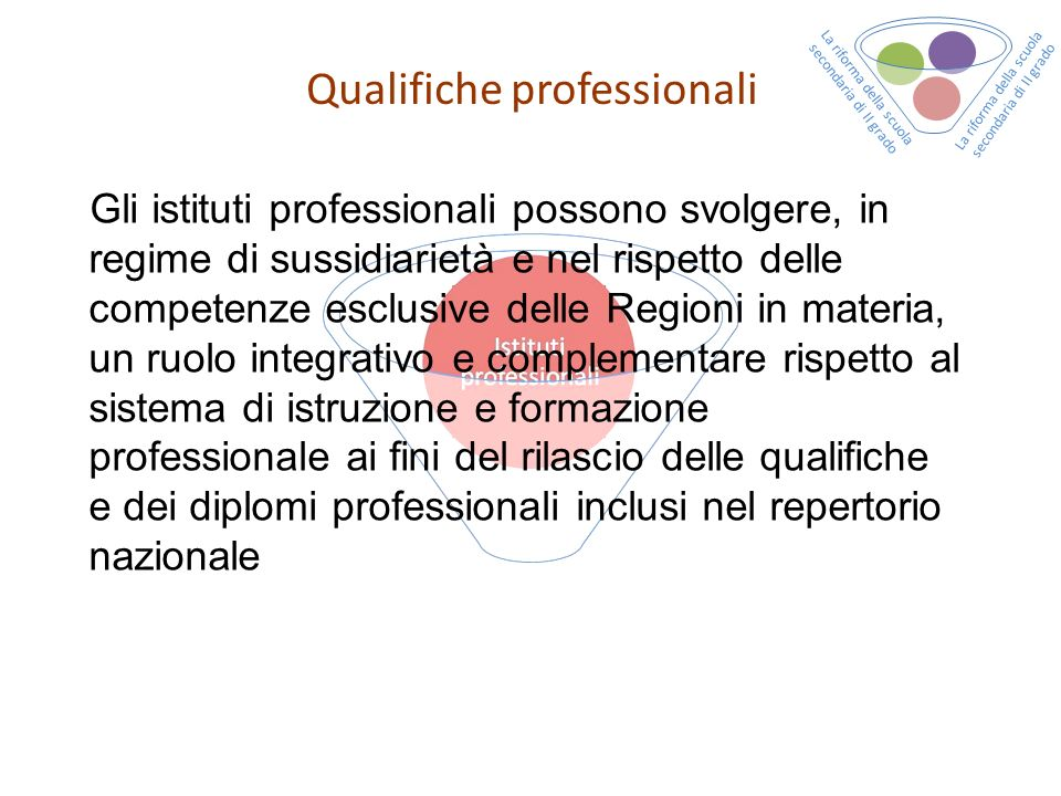 Qualifiche professionali