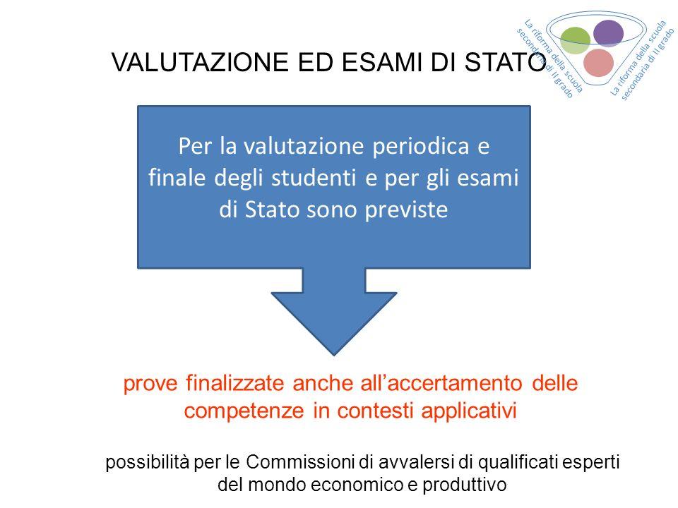 VALUTAZIONE ED ESAMI DI STATO