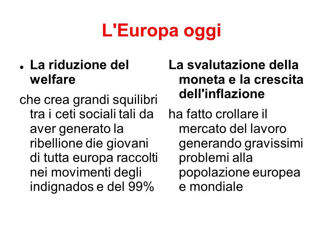 L Europa oggi La riduzione del welfare