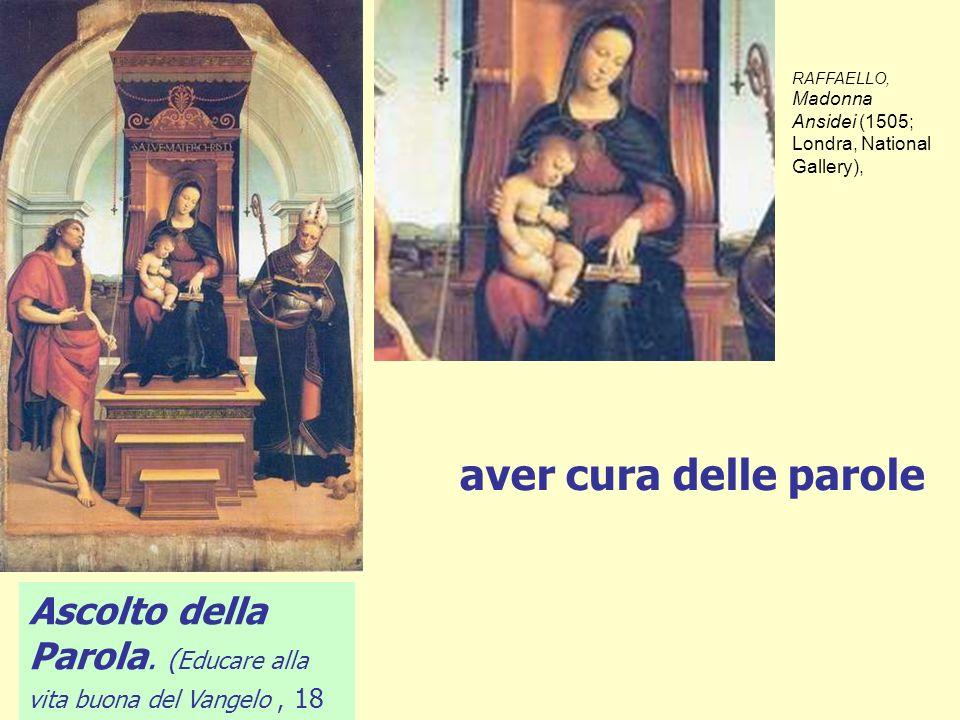 RAFFAELLO, Madonna Ansidei (1505; Londra, National Gallery),