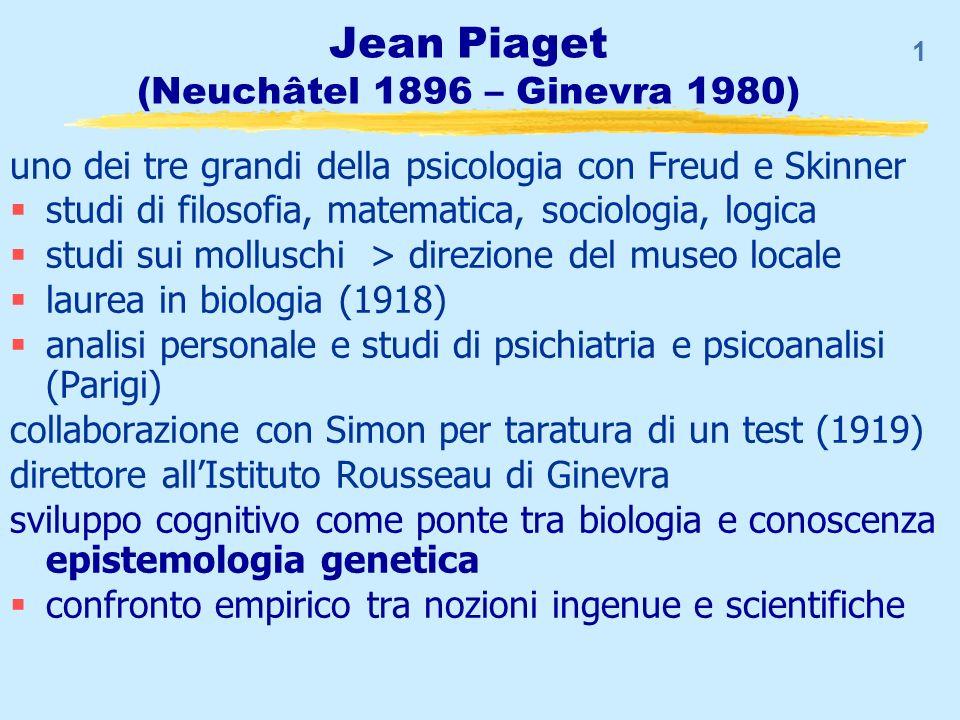 Piaget epistemologo genetico…
