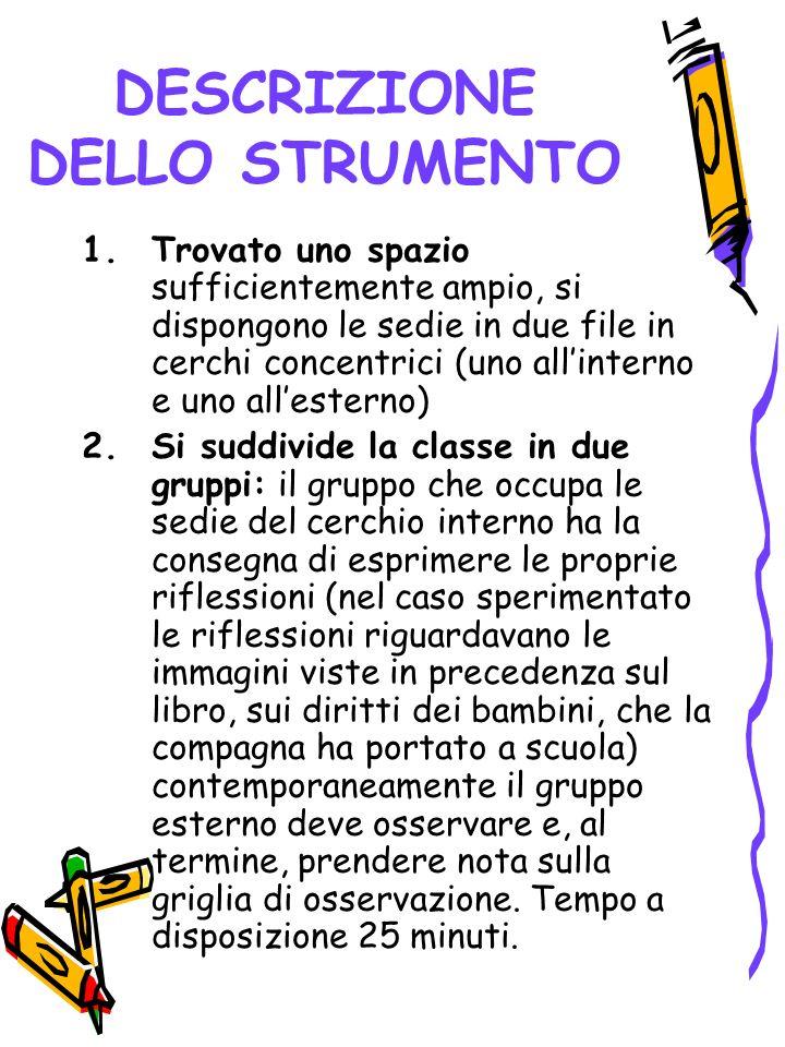 DESCRIZIONE DELLO STRUMENTO