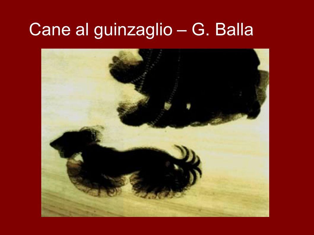 Cane al guinzaglio – G. Balla