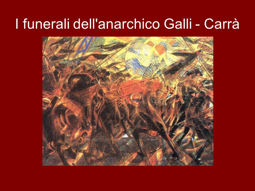 I funerali dell anarchico Galli - Carrà