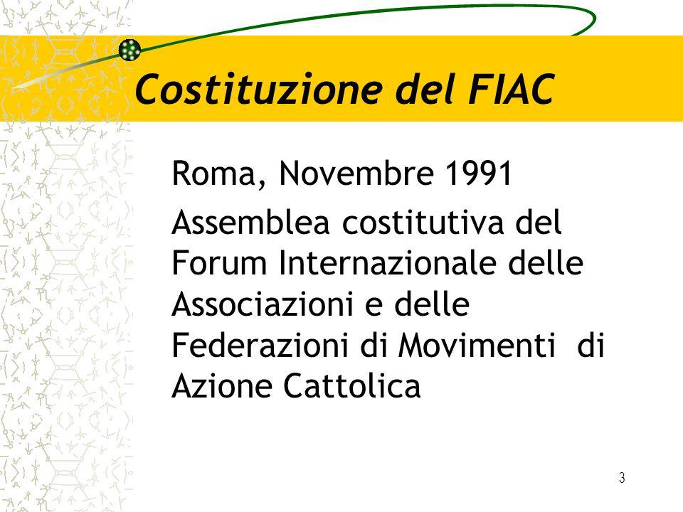Costituzione del FIAC Roma, Novembre 1991