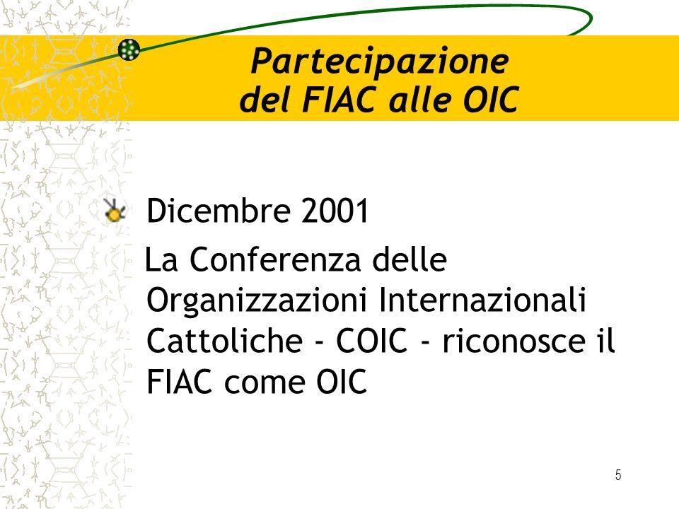Partecipazione del FIAC alle OIC