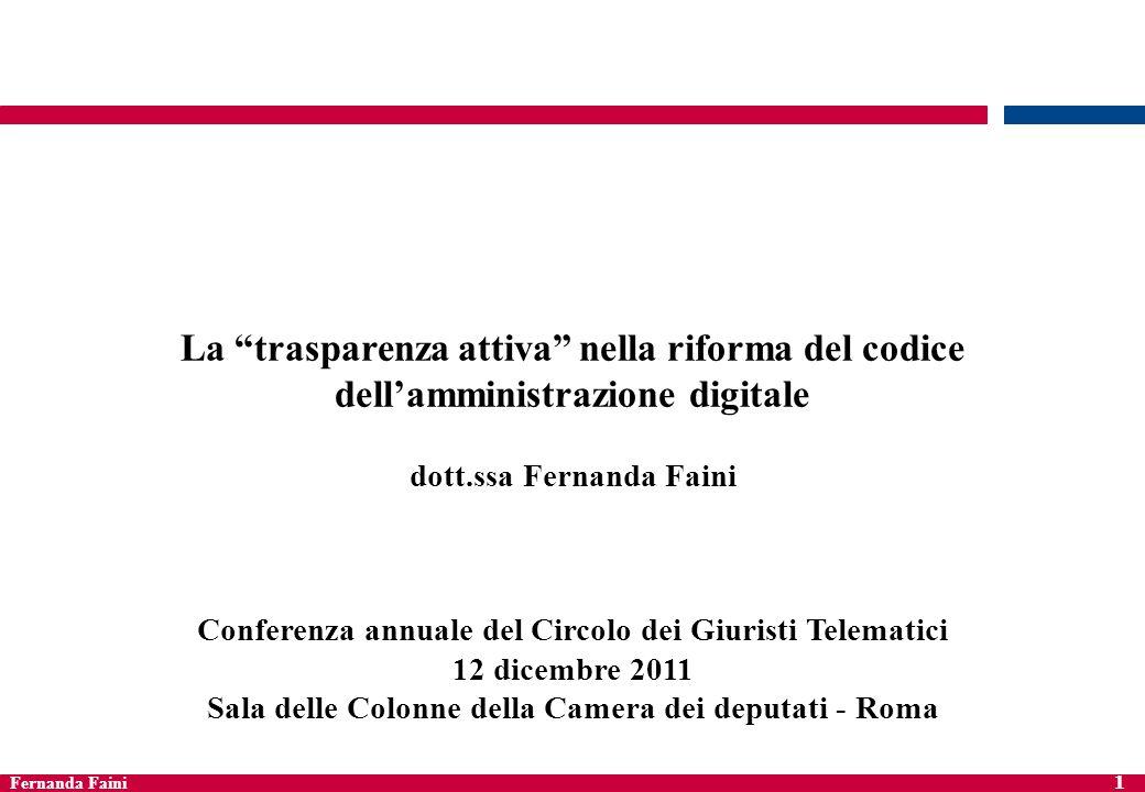La trasparenza attiva nella riforma del codice dell'amministrazione digitale