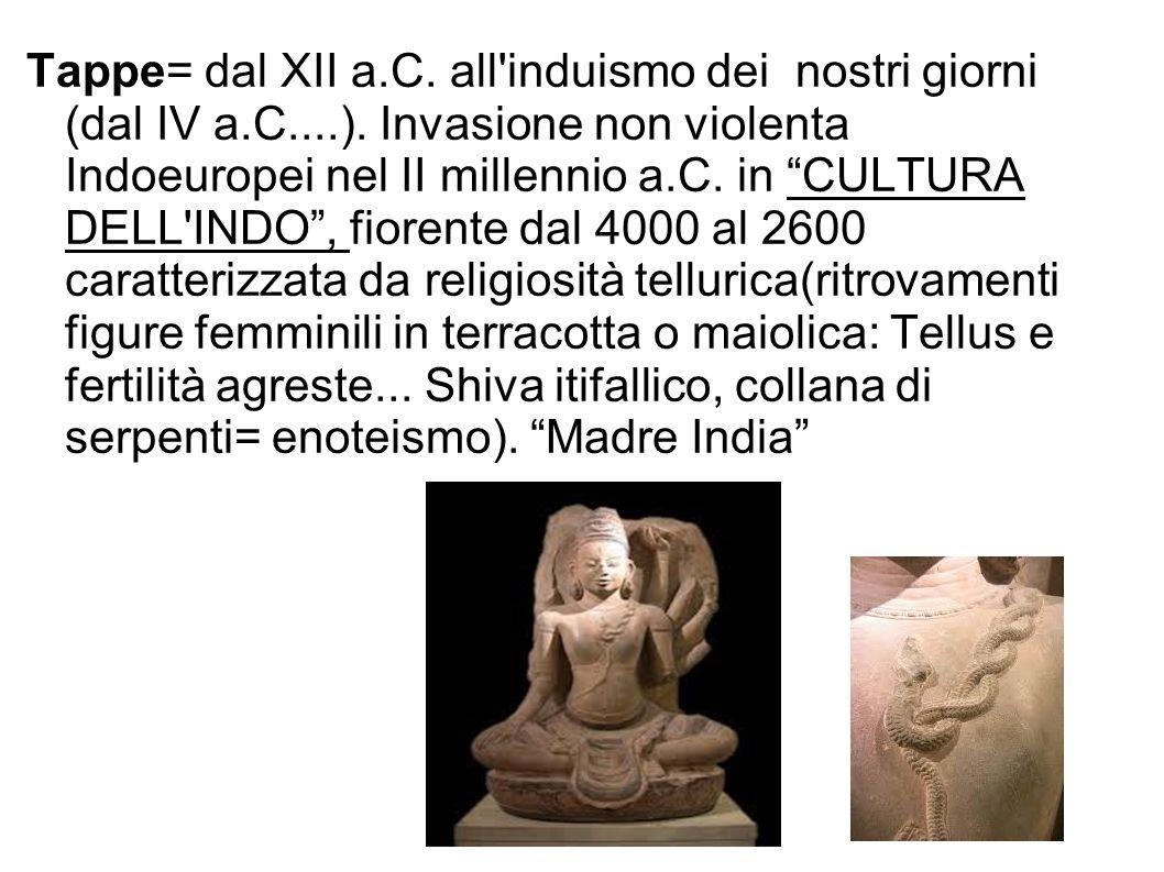 Tappe= dal XII a. C. all induismo dei nostri giorni (dal IV a. C. )