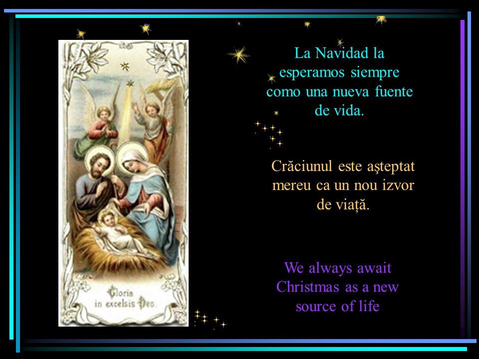 La Navidad la esperamos siempre como una nueva fuente de vida.