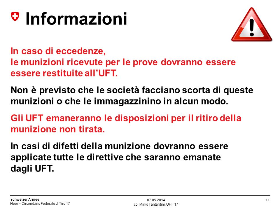 col Mirko Tantardini, UFT 17