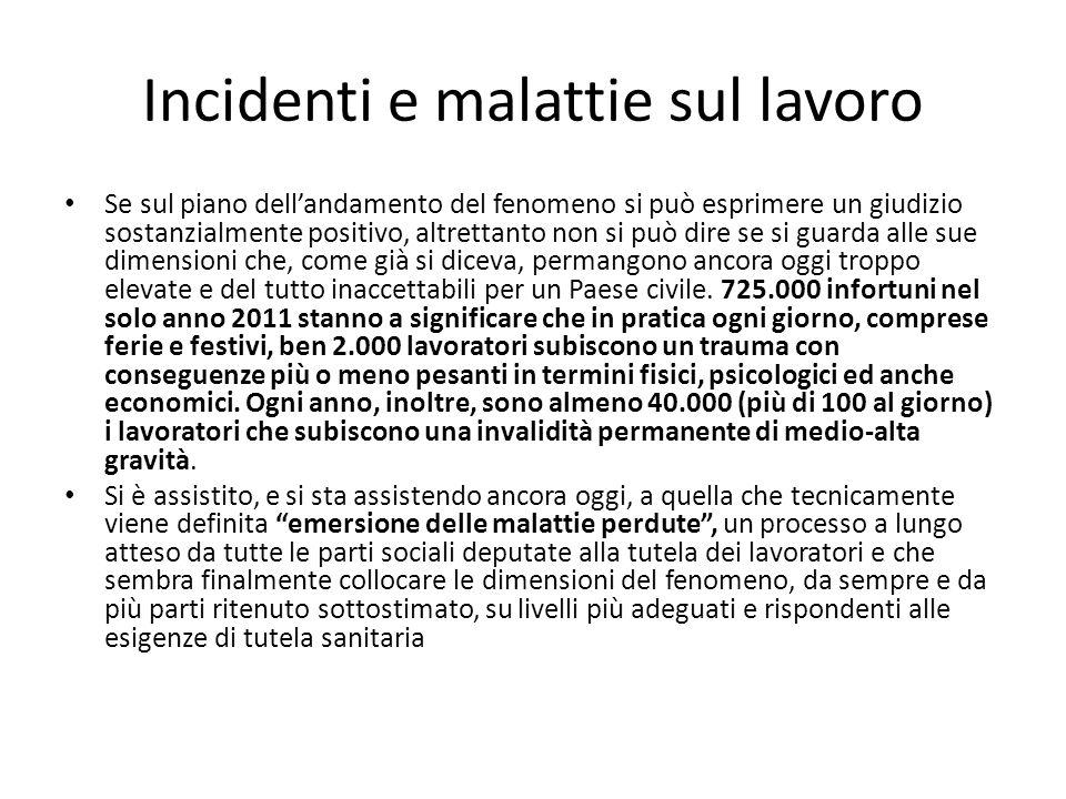 Incidenti e malattie sul lavoro