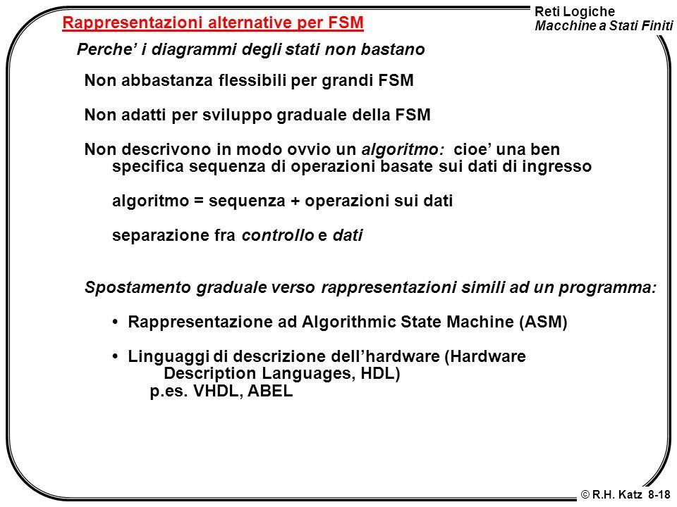 Rappresentazioni alternative per FSM