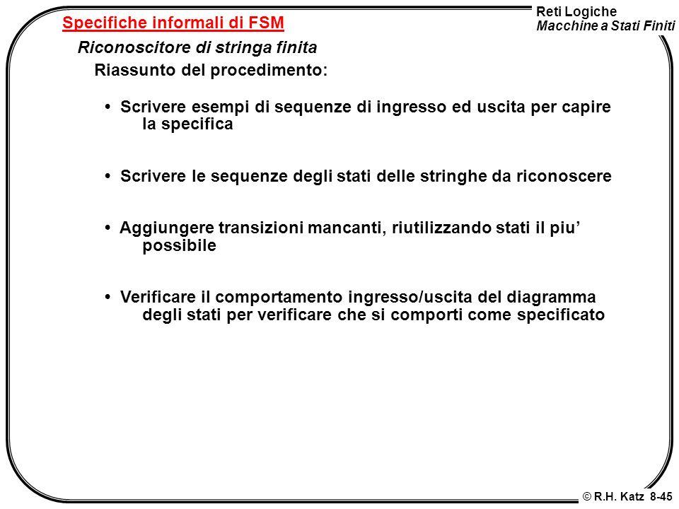 Specifiche informali di FSM
