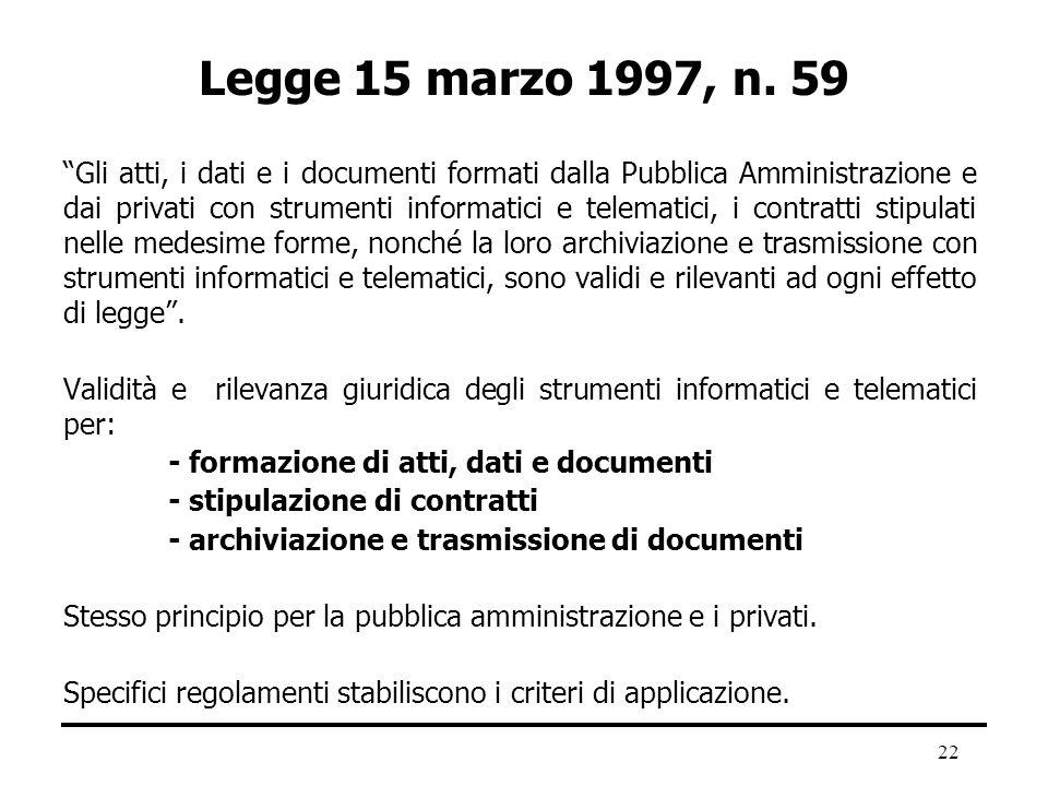 29/03/2017 Legge 15 marzo 1997, n. 59.