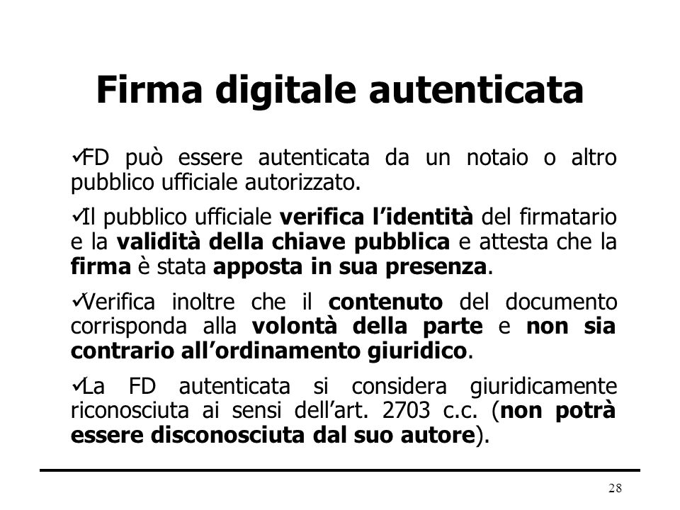 Firma digitale autenticata