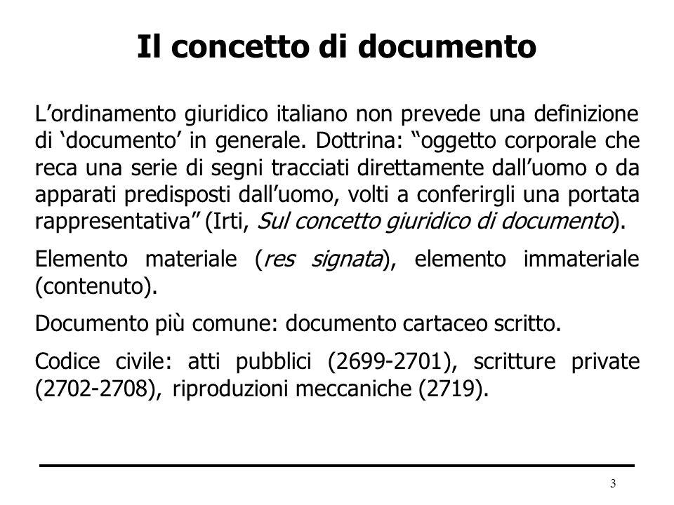 Il concetto di documento