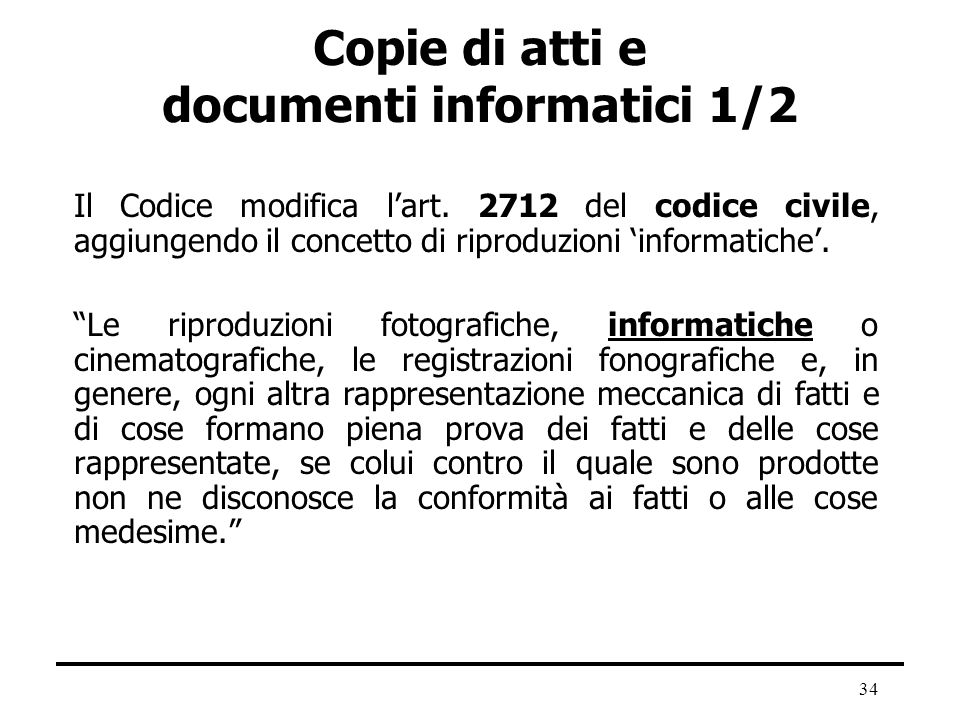 Copie di atti e documenti informatici 1/2