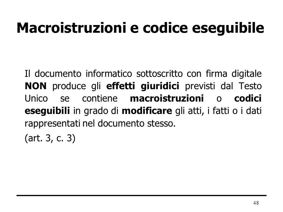 Macroistruzioni e codice eseguibile