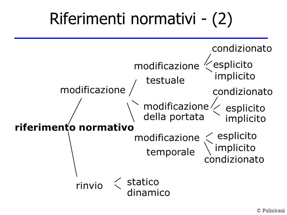 Riferimenti normativi - (2)