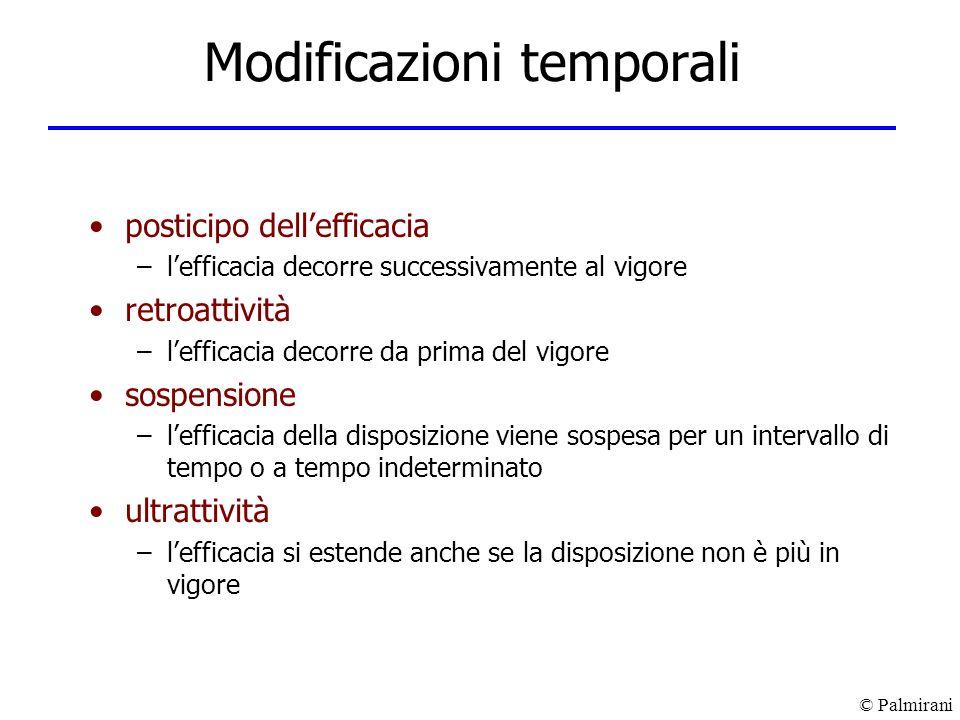 Modificazioni temporali