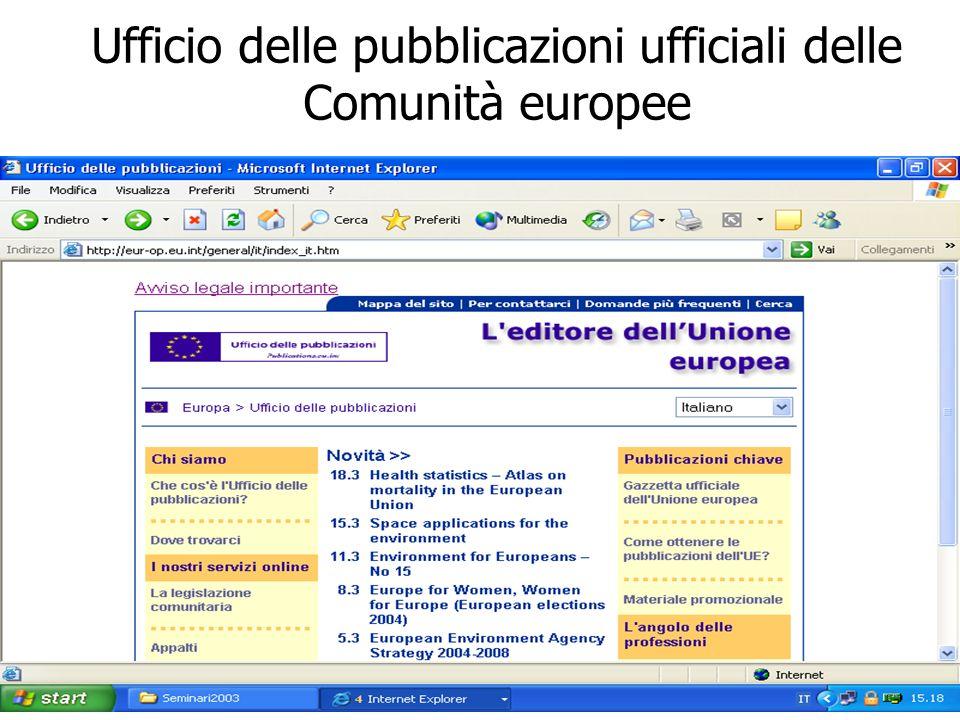 Ufficio delle pubblicazioni ufficiali delle Comunità europee