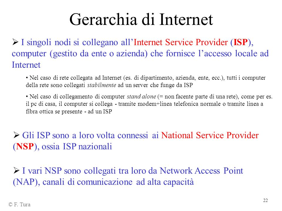 Gerarchia di Internet