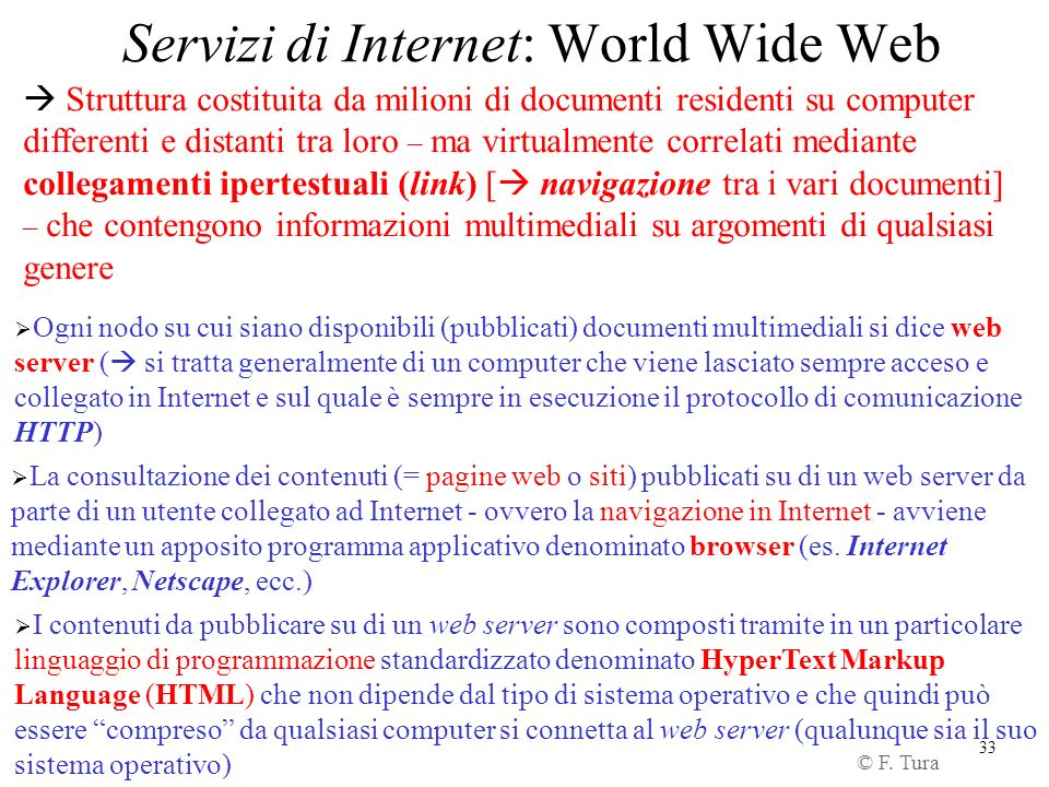 Servizi di Internet: World Wide Web