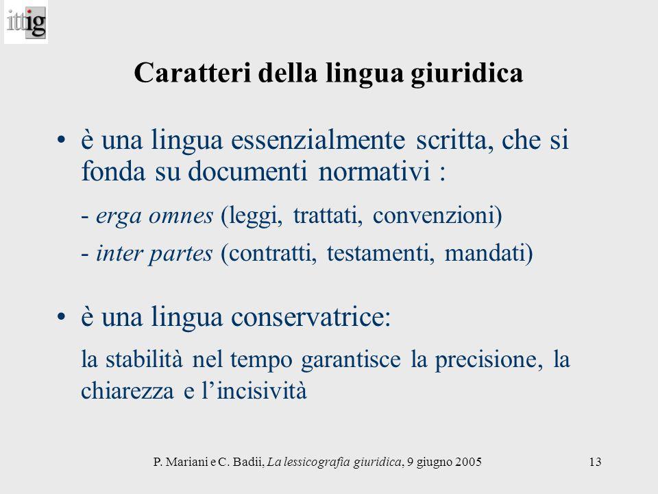 Caratteri della lingua giuridica