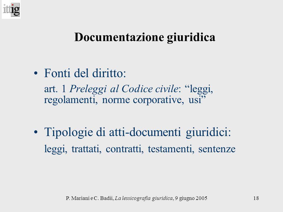 Documentazione giuridica