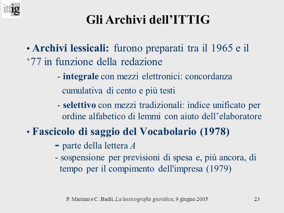 Gli Archivi dell'ITTIG