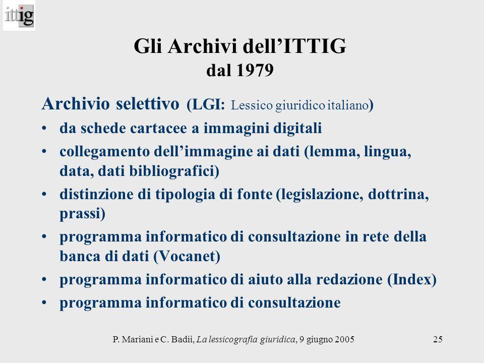 Gli Archivi dell'ITTIG dal 1979