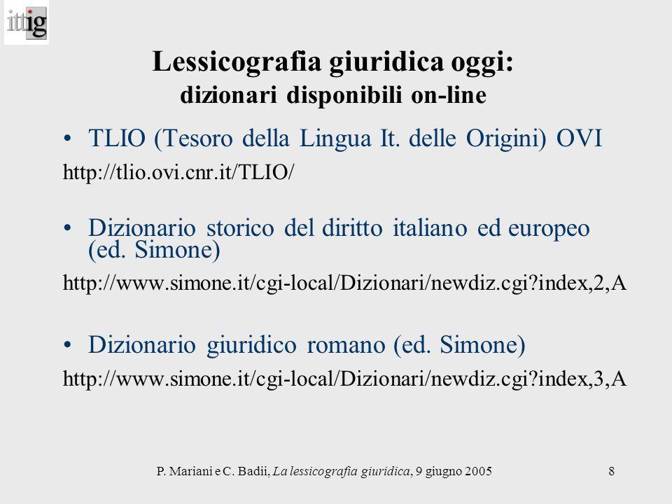 Lessicografia giuridica oggi: dizionari disponibili on-line