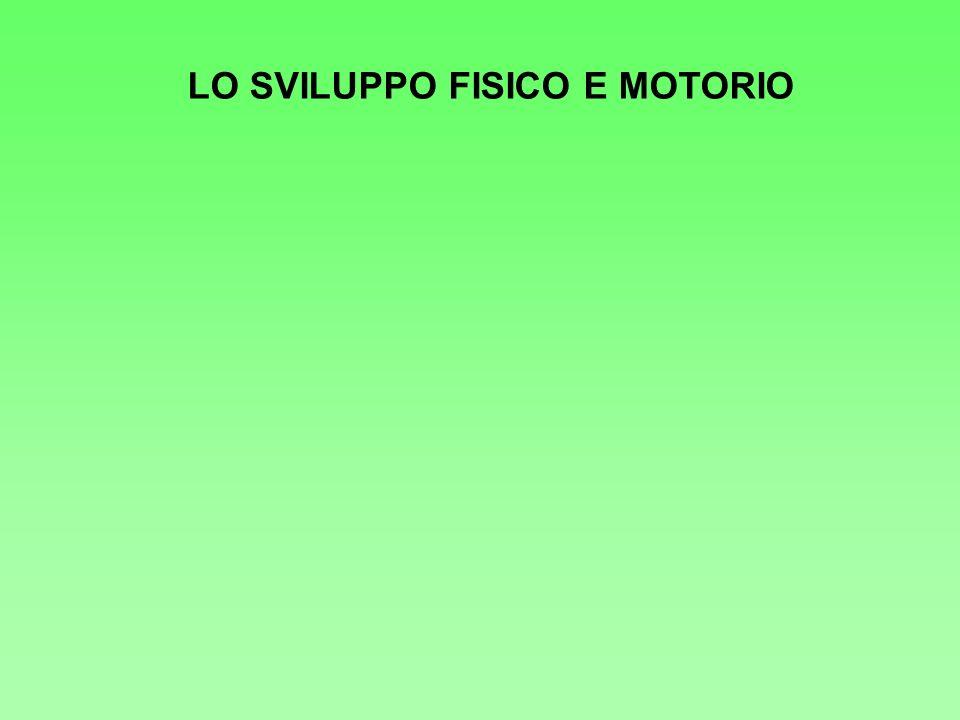 LO SVILUPPO FISICO E MOTORIO