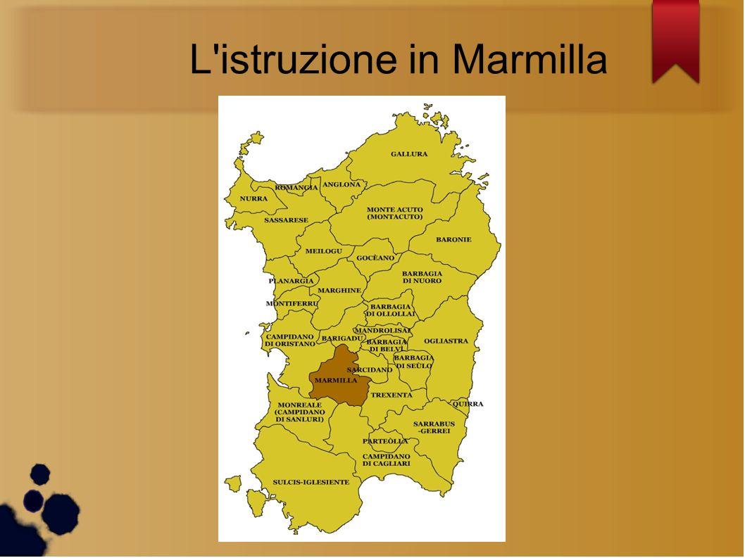 L istruzione in Marmilla