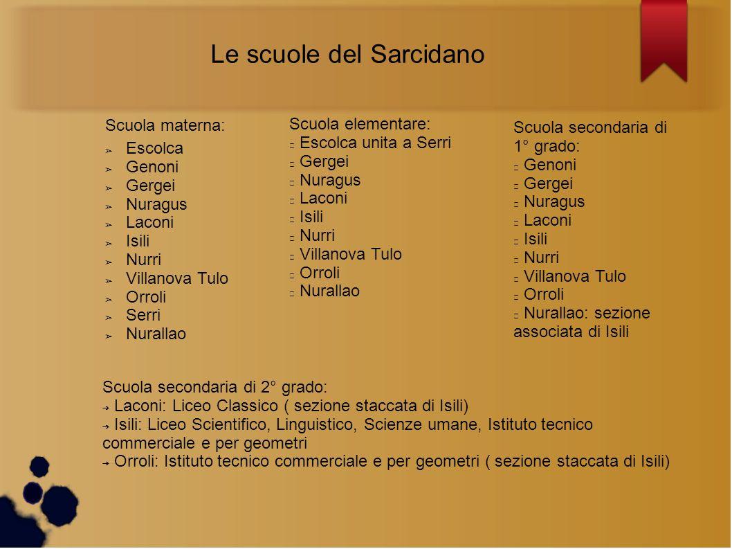 Le scuole del Sarcidano