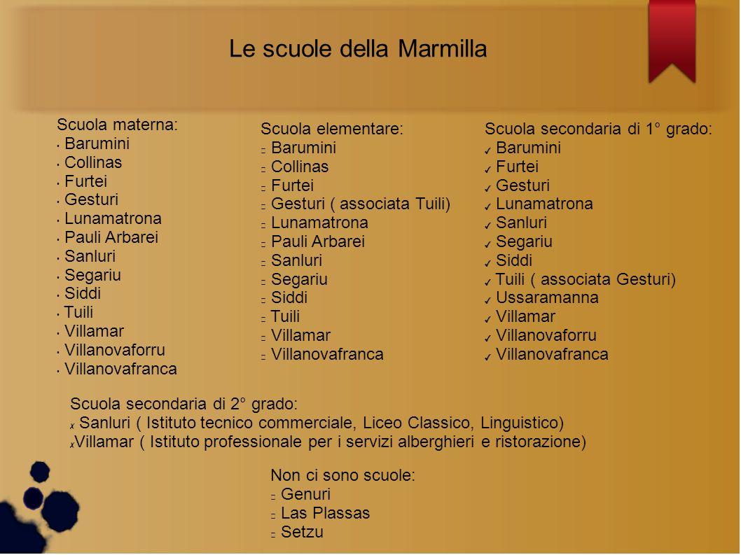 Le scuole della Marmilla