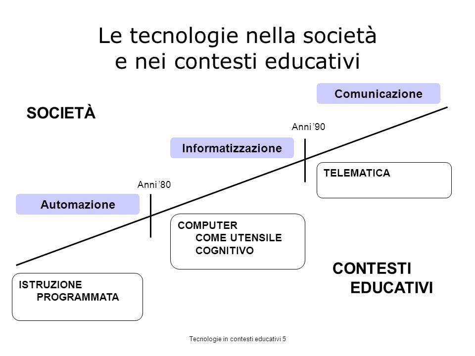 Le tecnologie nella società e nei contesti educativi