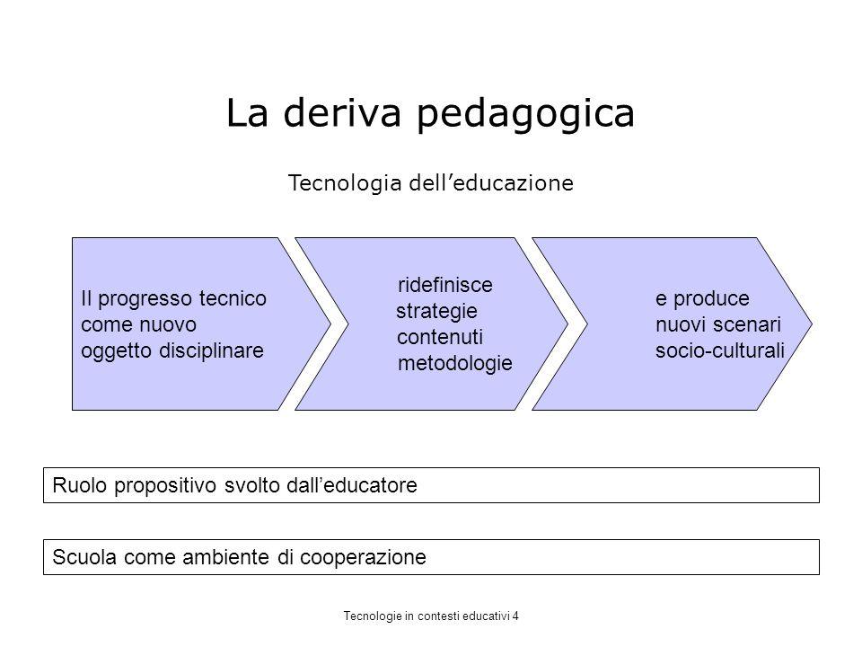 La deriva pedagogica Tecnologia dell'educazione Il progresso tecnico