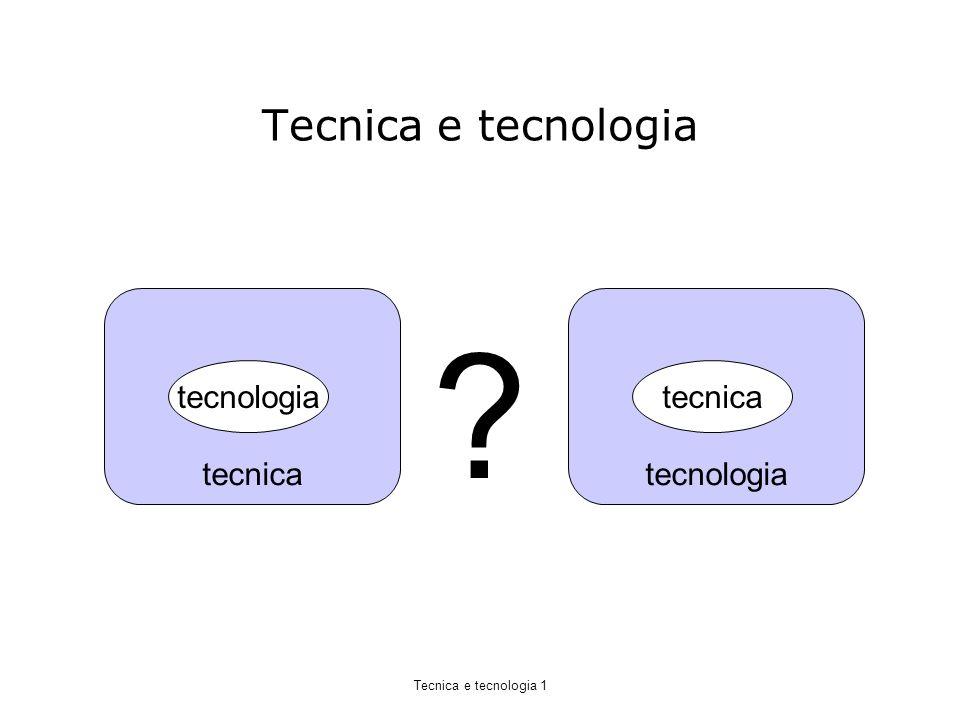 Tecnica e tecnologia tecnica tecnologia tecnologia tecnica