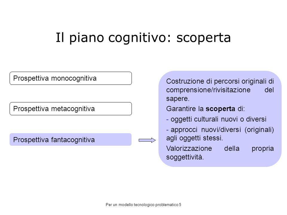 Il piano cognitivo: scoperta