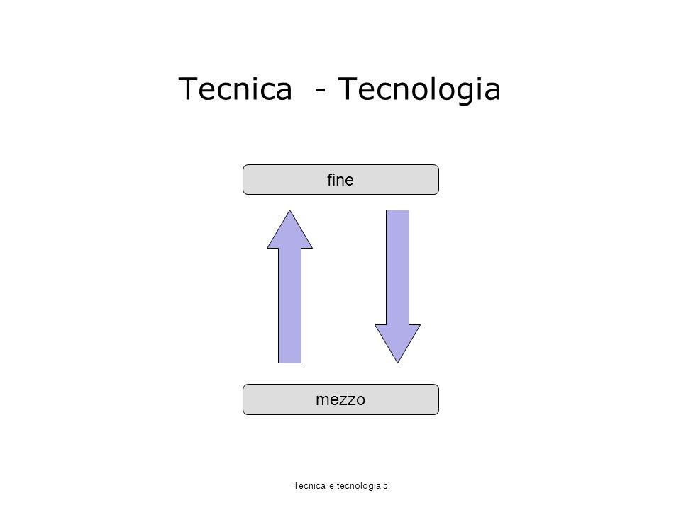 Tecnica - Tecnologia fine mezzo Tecnica e tecnologia 5