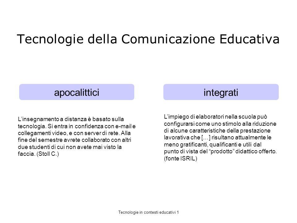 Tecnologie della Comunicazione Educativa